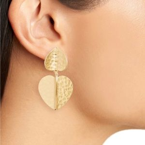 BOGO Kate Spade metal petal 3d heart drop earrings